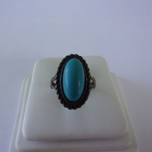 Espo Sterling Silver Turquoise Ring Size 5